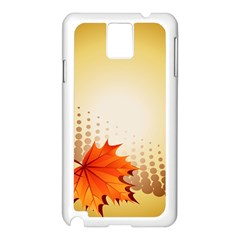 Background Leaves Dry Leaf Nature Samsung Galaxy Note 3 N9005 Case (White)