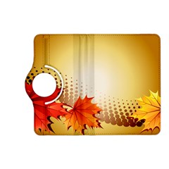 Background Leaves Dry Leaf Nature Kindle Fire HD (2013) Flip 360 Case