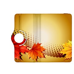 Background Leaves Dry Leaf Nature Kindle Fire Hdx 8 9  Flip 360 Case