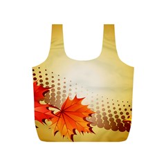 Background Leaves Dry Leaf Nature Full Print Recycle Bags (S)