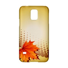 Background Leaves Dry Leaf Nature Samsung Galaxy S5 Hardshell Case