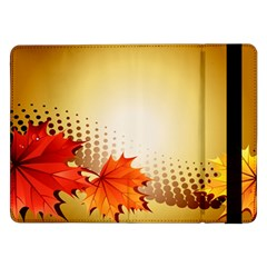 Background Leaves Dry Leaf Nature Samsung Galaxy Tab Pro 12.2  Flip Case