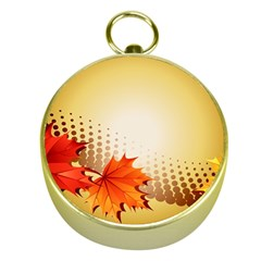Background Leaves Dry Leaf Nature Gold Compasses