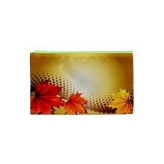 Background Leaves Dry Leaf Nature Cosmetic Bag (xs)