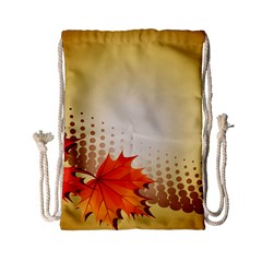 Background Leaves Dry Leaf Nature Drawstring Bag (small)