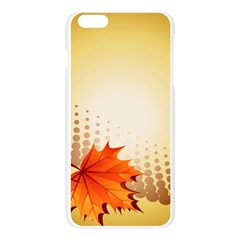 Background Leaves Dry Leaf Nature Apple Seamless iPhone 6 Plus/6S Plus Case (Transparent)