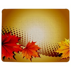 Background Leaves Dry Leaf Nature Jigsaw Puzzle Photo Stand (Rectangular)