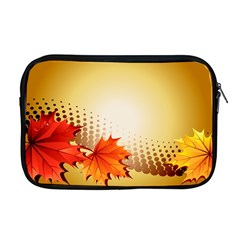 Background Leaves Dry Leaf Nature Apple Macbook Pro 17  Zipper Case