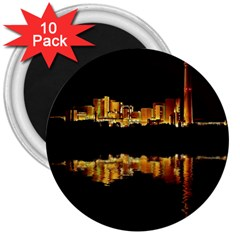 Waste Incineration Incinerator 3  Magnets (10 Pack)