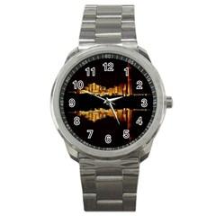 Waste Incineration Incinerator Sport Metal Watch