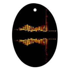 Waste Incineration Incinerator Oval Ornament (Two Sides)