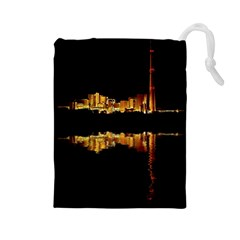 Waste Incineration Incinerator Drawstring Pouches (Large)