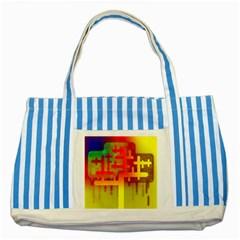Binary Binary Code Binary System Striped Blue Tote Bag