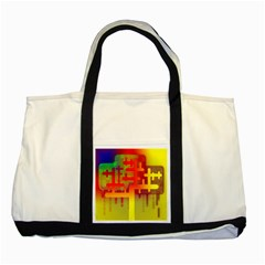 Binary Binary Code Binary System Two Tone Tote Bag