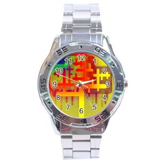 Binary Binary Code Binary System Stainless Steel Analogue Watch