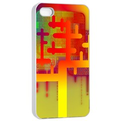 Binary Binary Code Binary System Apple iPhone 4/4s Seamless Case (White)