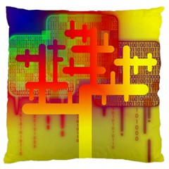 Binary Binary Code Binary System Large Cushion Case (Two Sides)