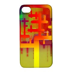 Binary Binary Code Binary System Apple iPhone 4/4S Hardshell Case with Stand