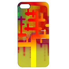 Binary Binary Code Binary System Apple iPhone 5 Hardshell Case with Stand