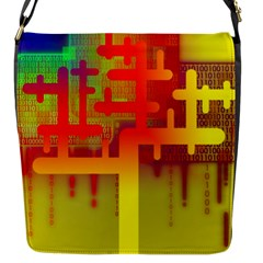 Binary Binary Code Binary System Flap Messenger Bag (S)