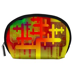 Binary Binary Code Binary System Accessory Pouches (large)