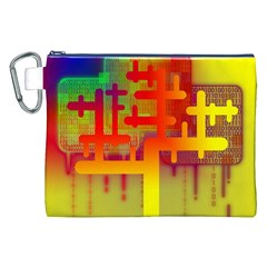 Binary Binary Code Binary System Canvas Cosmetic Bag (XXL)