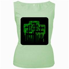 Binary Binary Code Binary System Women s Green Tank Top