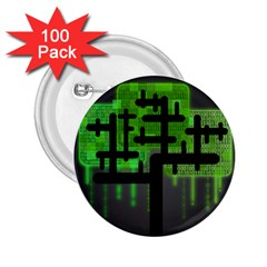 Binary Binary Code Binary System 2 25  Buttons (100 Pack)