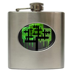 Binary Binary Code Binary System Hip Flask (6 Oz)