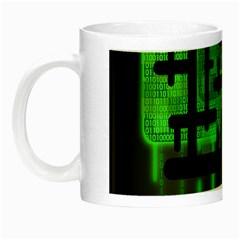 Binary Binary Code Binary System Night Luminous Mugs