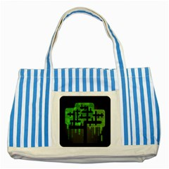 Binary Binary Code Binary System Striped Blue Tote Bag