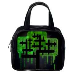 Binary Binary Code Binary System Classic Handbags (one Side)