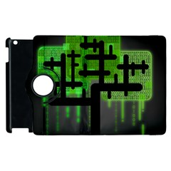 Binary Binary Code Binary System Apple Ipad 2 Flip 360 Case