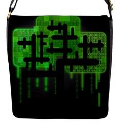 Binary Binary Code Binary System Flap Messenger Bag (S)