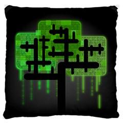 Binary Binary Code Binary System Large Flano Cushion Case (One Side)