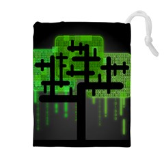 Binary Binary Code Binary System Drawstring Pouches (Extra Large)