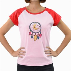 Cute Hand Drawn Dreamcatcher Illustration Women s Cap Sleeve T-Shirt