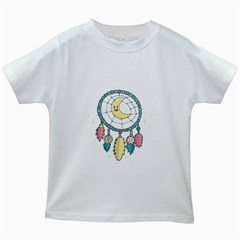 Cute Hand Drawn Dreamcatcher Illustration Kids White T-Shirts