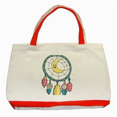 Cute Hand Drawn Dreamcatcher Illustration Classic Tote Bag (Red)