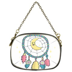 Cute Hand Drawn Dreamcatcher Illustration Chain Purses (Two Sides)