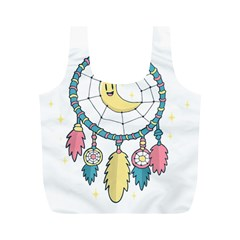 Cute Hand Drawn Dreamcatcher Illustration Full Print Recycle Bags (M)