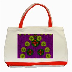 Buddha Blessings Fantasy Classic Tote Bag (Red)