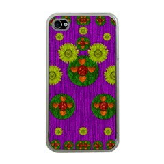Buddha Blessings Fantasy Apple iPhone 4 Case (Clear)