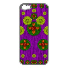Buddha Blessings Fantasy Apple iPhone 5 Case (Silver)
