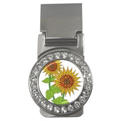Sunflowers Flower Bloom Nature Money Clips (cz)