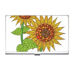 Sunflowers Flower Bloom Nature Business Card Holders