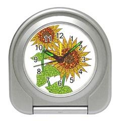 Sunflowers Flower Bloom Nature Travel Alarm Clocks
