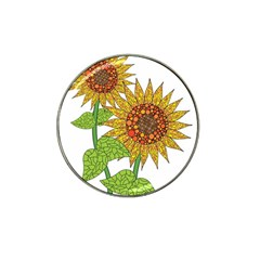 Sunflowers Flower Bloom Nature Hat Clip Ball Marker (10 pack)