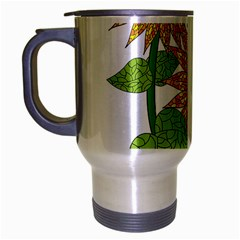 Sunflowers Flower Bloom Nature Travel Mug (silver Gray)