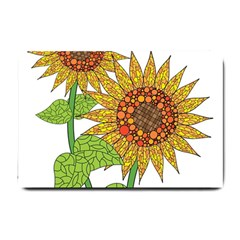 Sunflowers Flower Bloom Nature Small Doormat